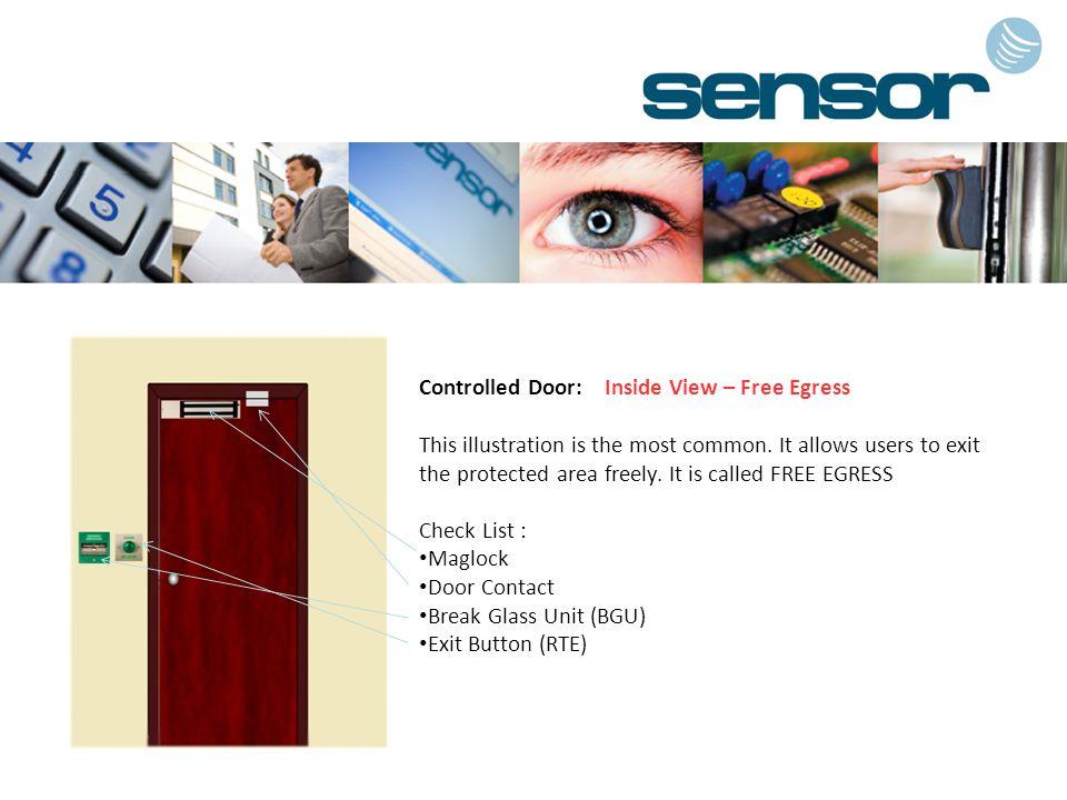 Controlled Door: Inside View – Free Egress