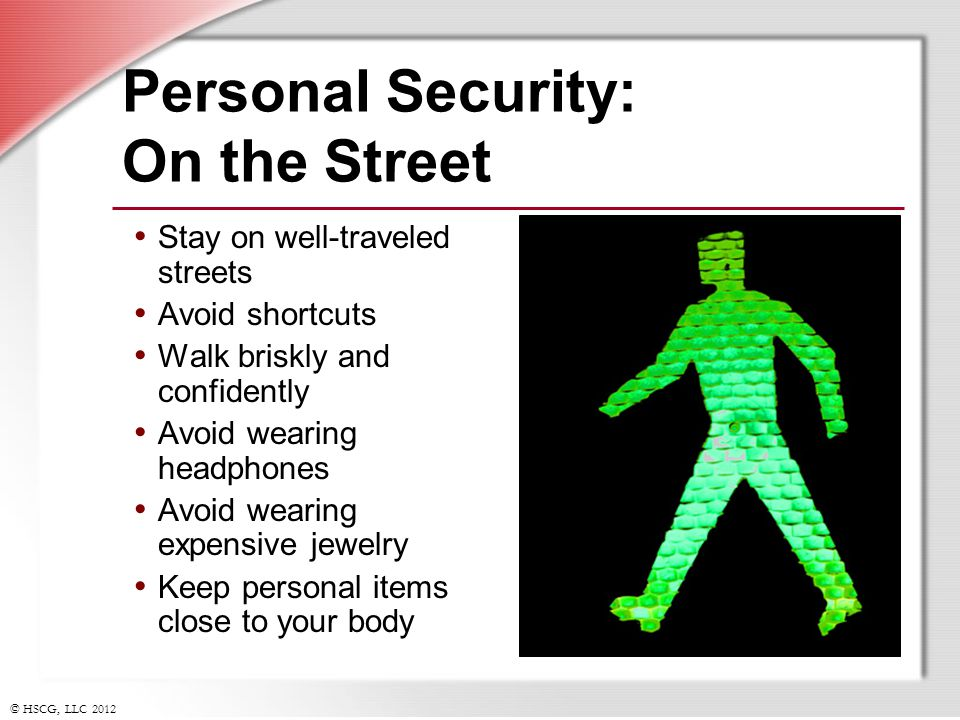 Personal Security: On the Street