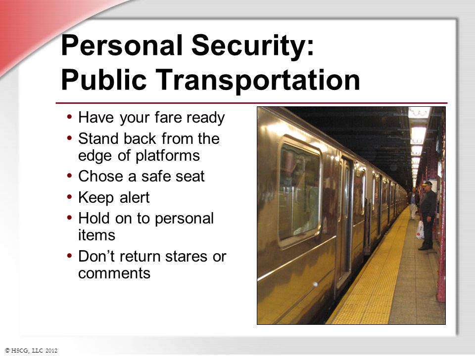 Personal Security: Public Transportation