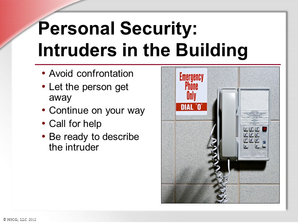 Personal Security: Intruders in the Building