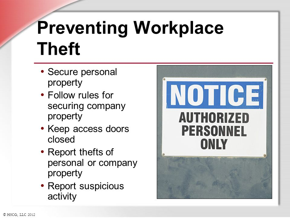 Preventing Workplace Theft