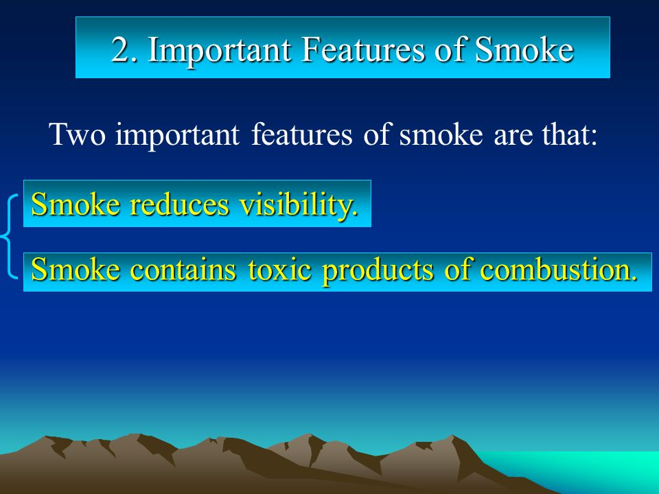 2. Important Features of Smoke