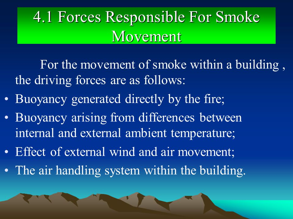 4.1 Forces Responsible For Smoke Movement