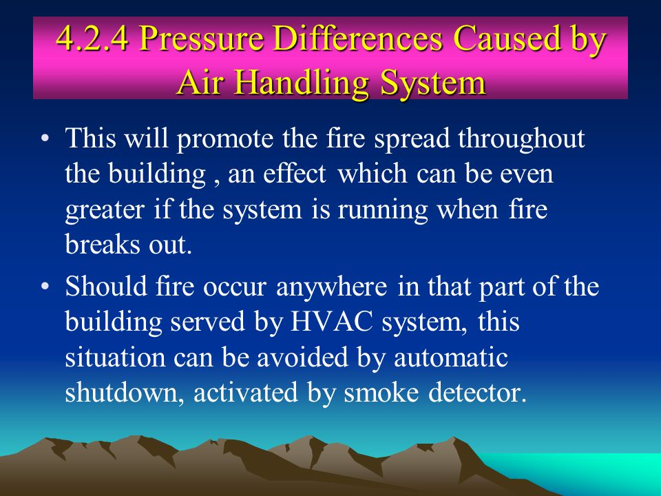 4.2.4 Pressure Differences Caused by Air Handling System