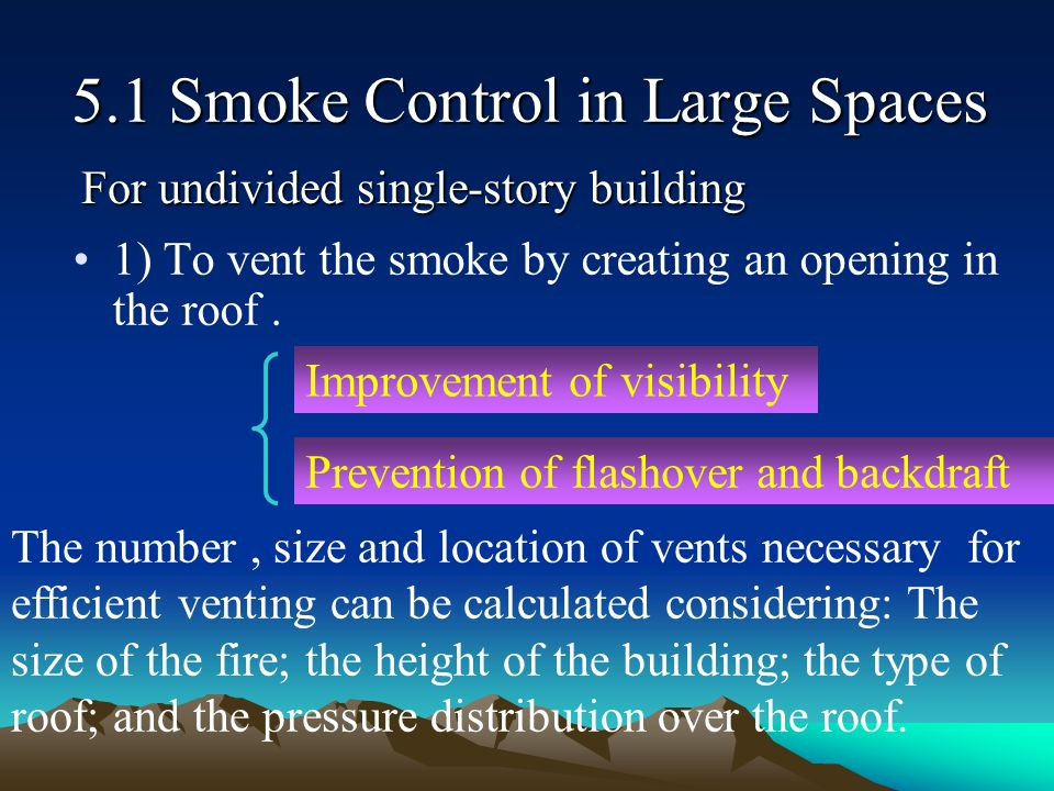 5.1 Smoke Control in Large Spaces