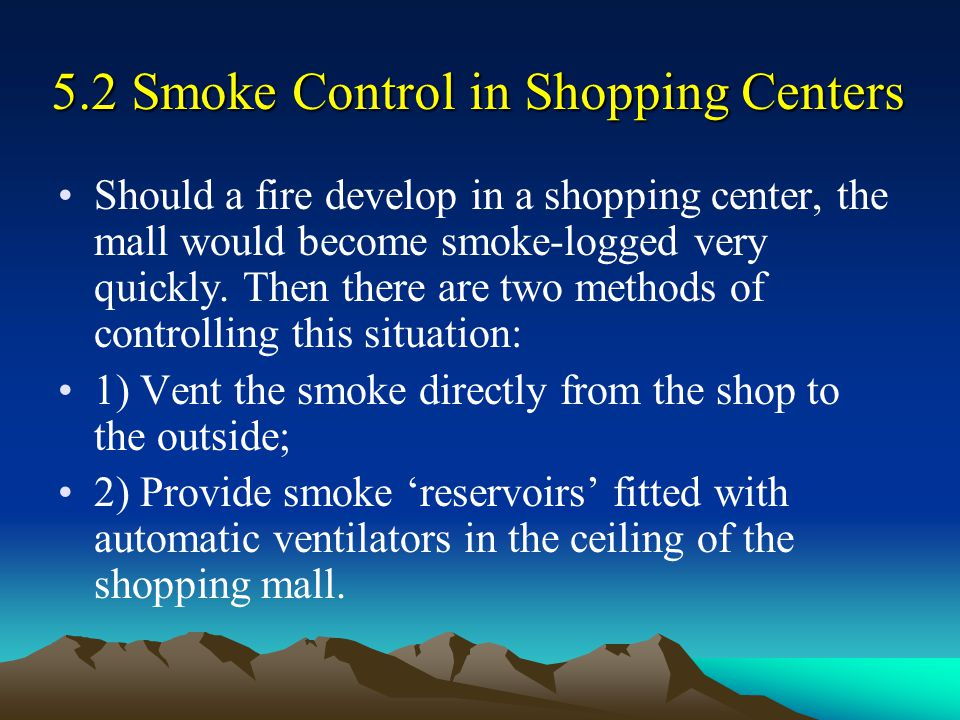 5.2 Smoke Control in Shopping Centers