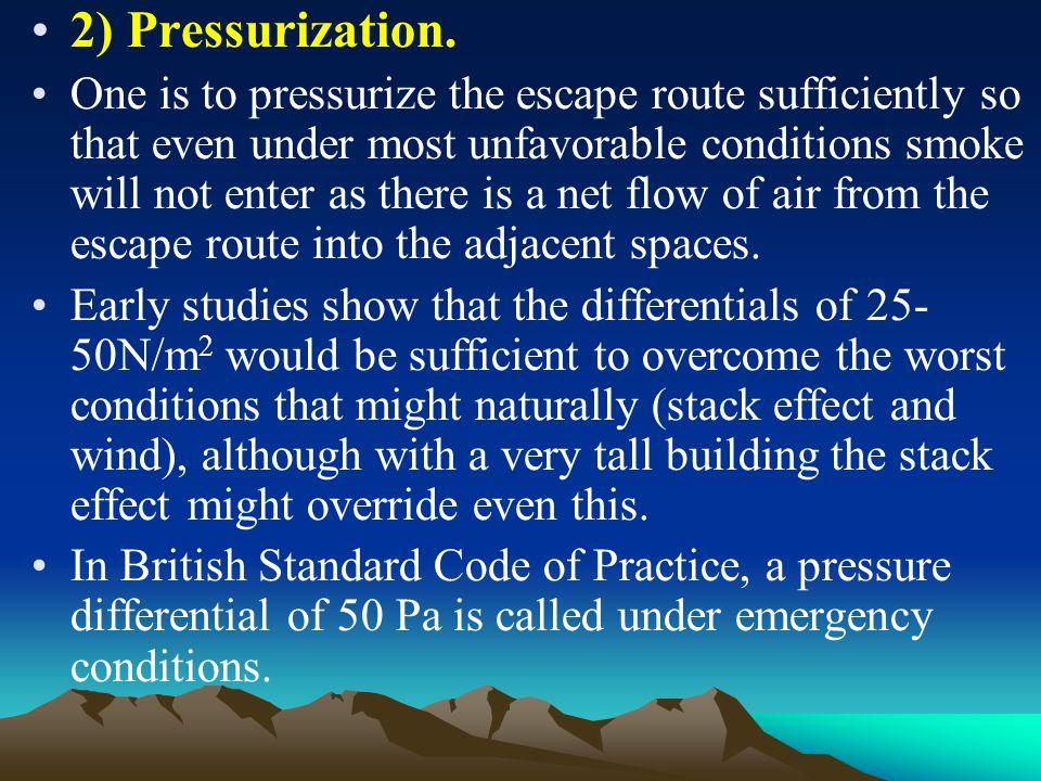 2) Pressurization.