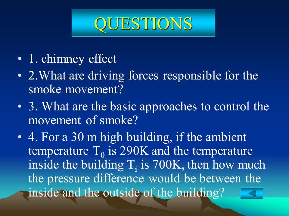 QUESTIONS 1. chimney effect
