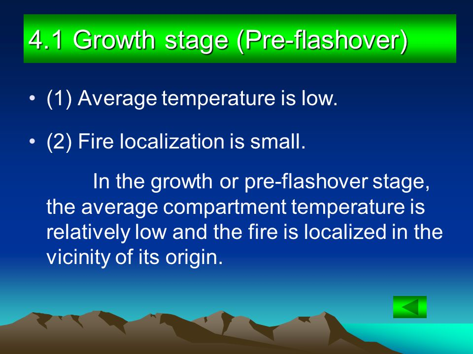 4.1 Growth stage (Pre-flashover)