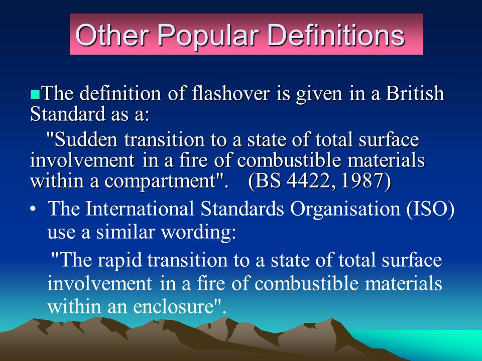 Definition of Flashover