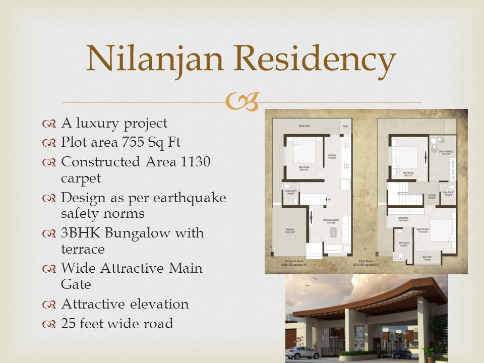 Nilanjan Residency A luxury project Plot area 755 Sq Ft