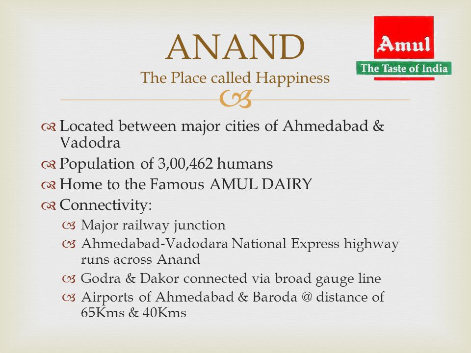 ANAND The Place called Happiness