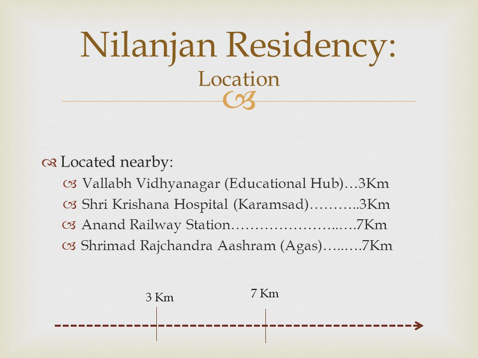 Nilanjan Residency: Location