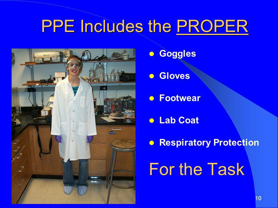 PPE Includes the PROPER