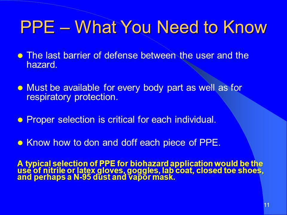 PPE – What You Need to Know