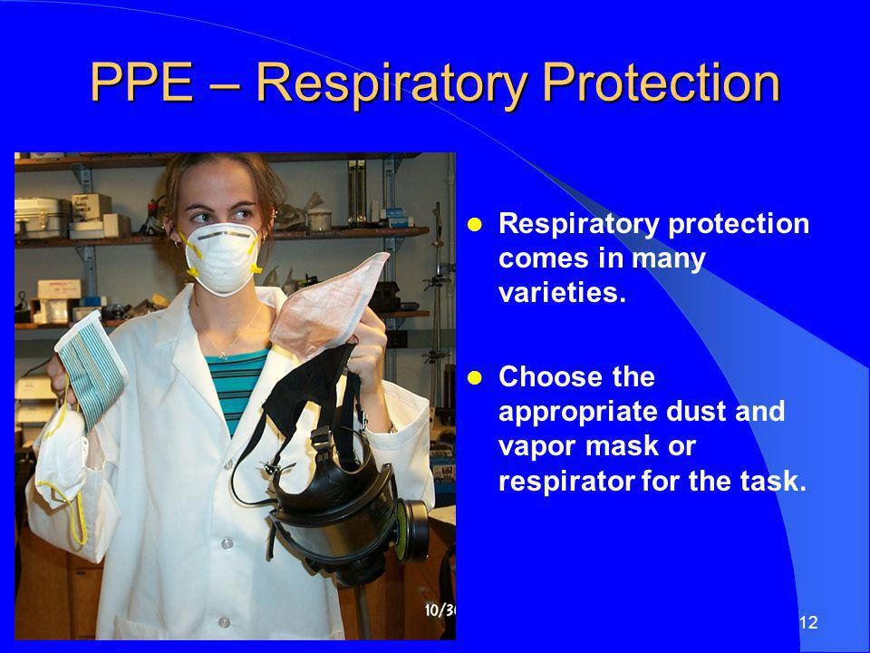 PPE – Respiratory Protection