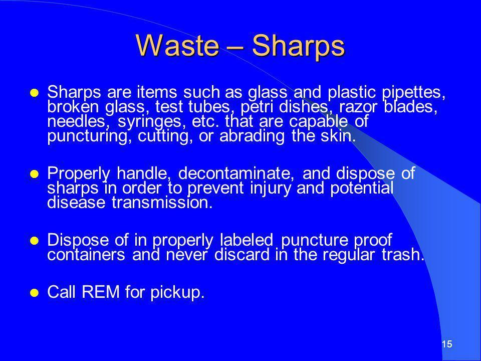 Waste – Sharps
