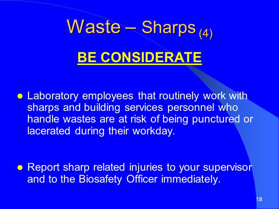 Waste – Sharps (4) BE CONSIDERATE