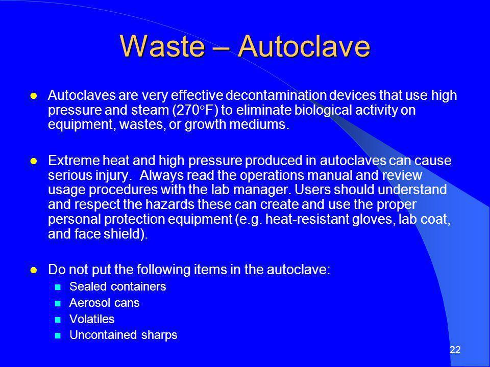 Waste – Autoclave