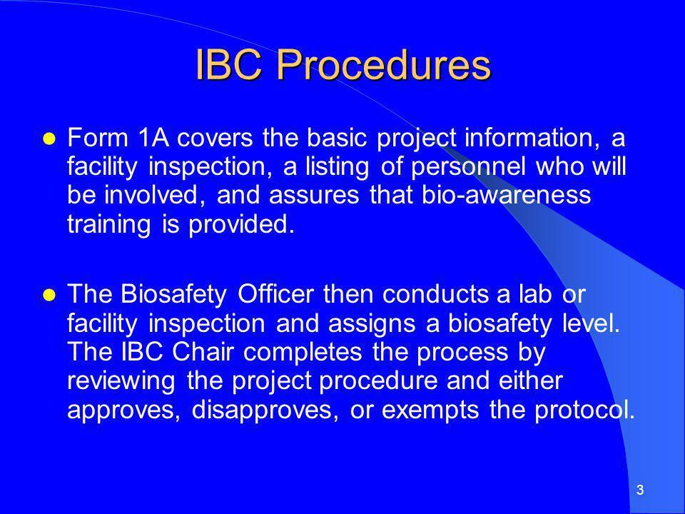 IBC Procedures