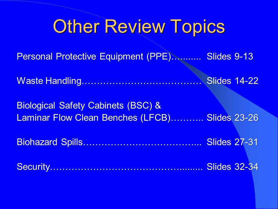 Other Review Topics