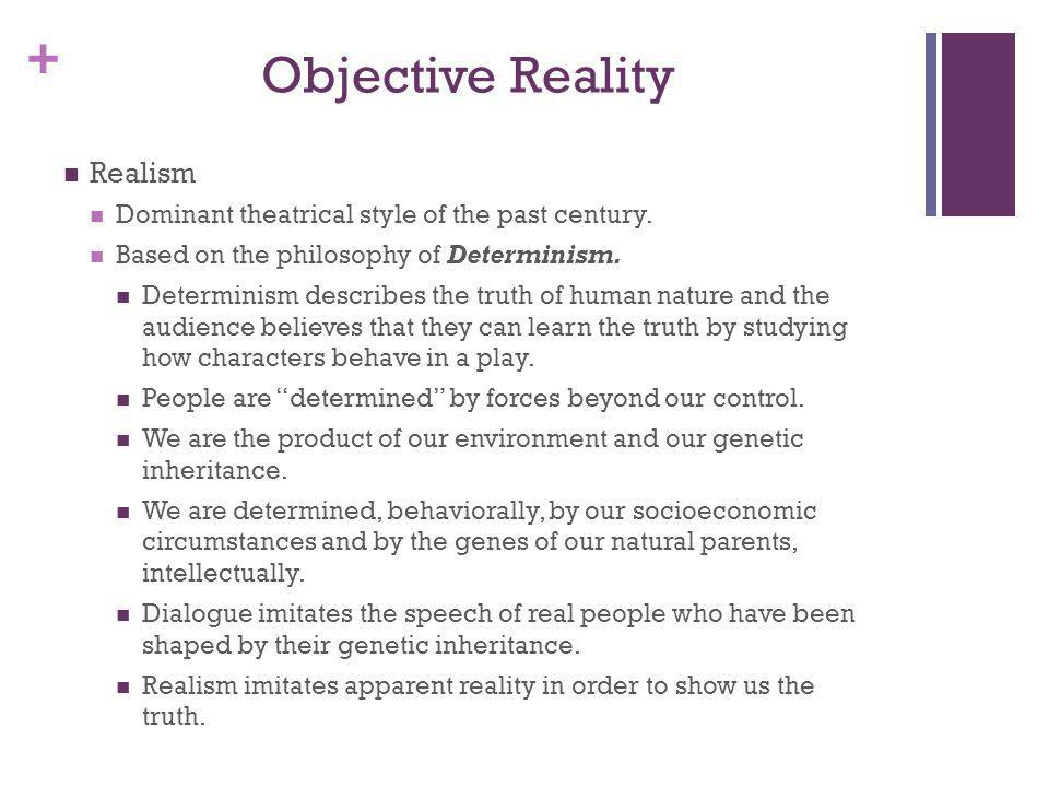 Objective Reality Realism