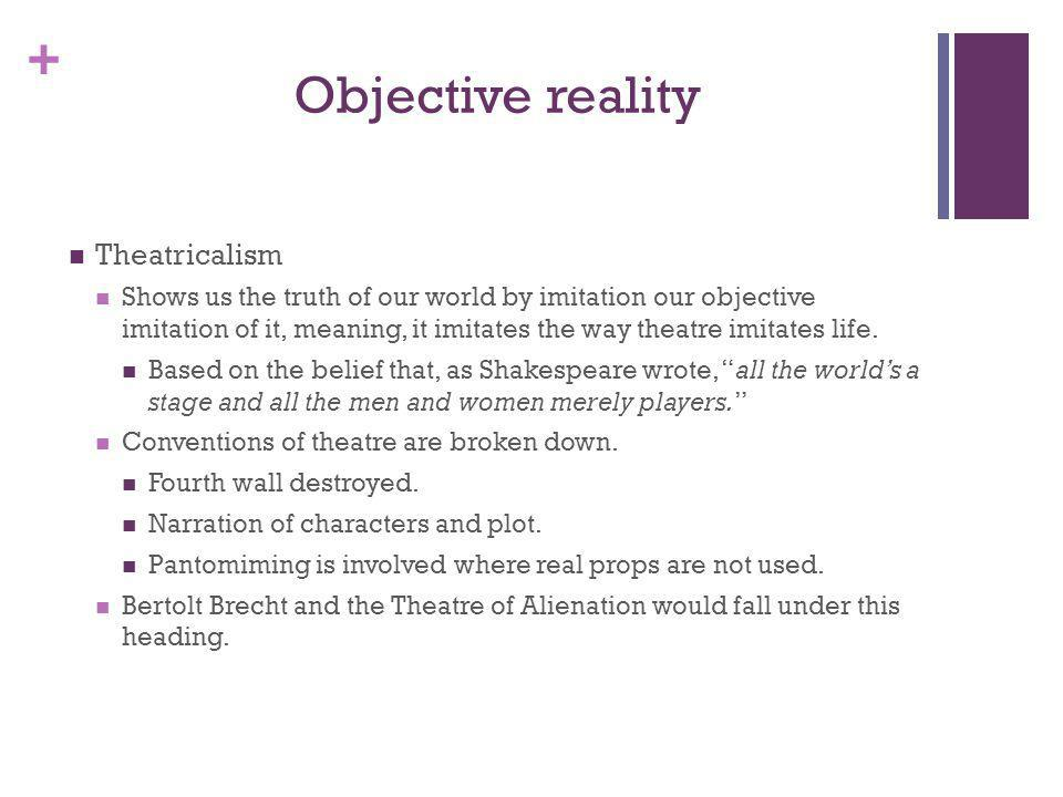 Objective reality Theatricalism