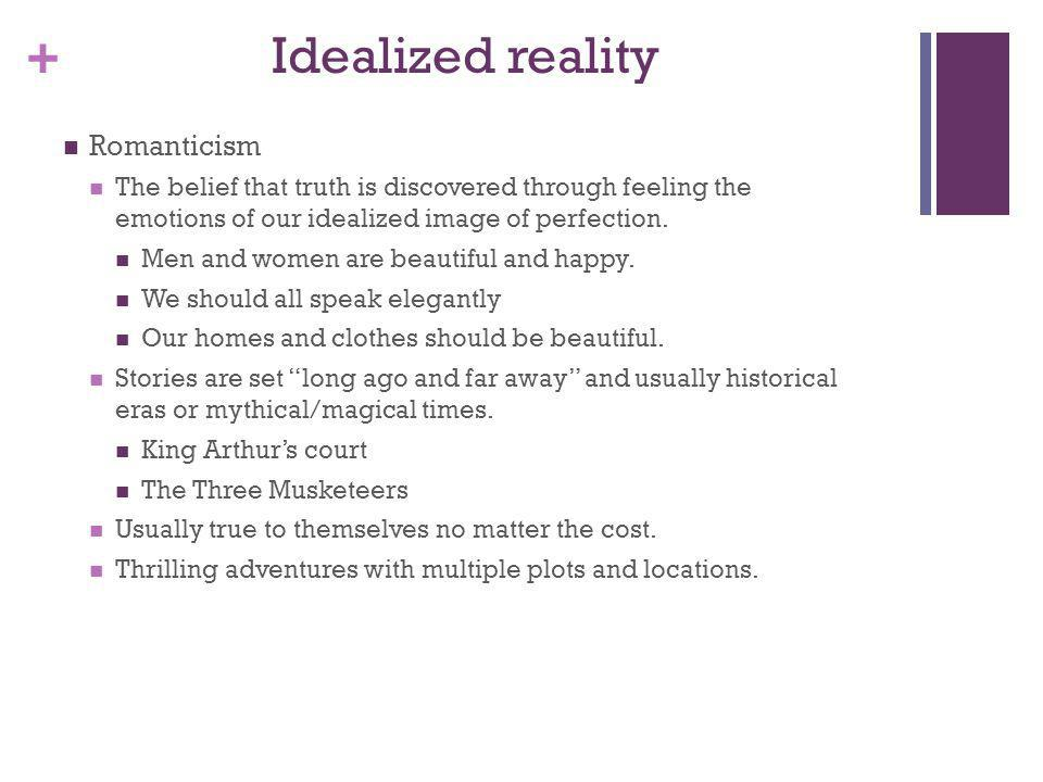 Idealized reality Romanticism