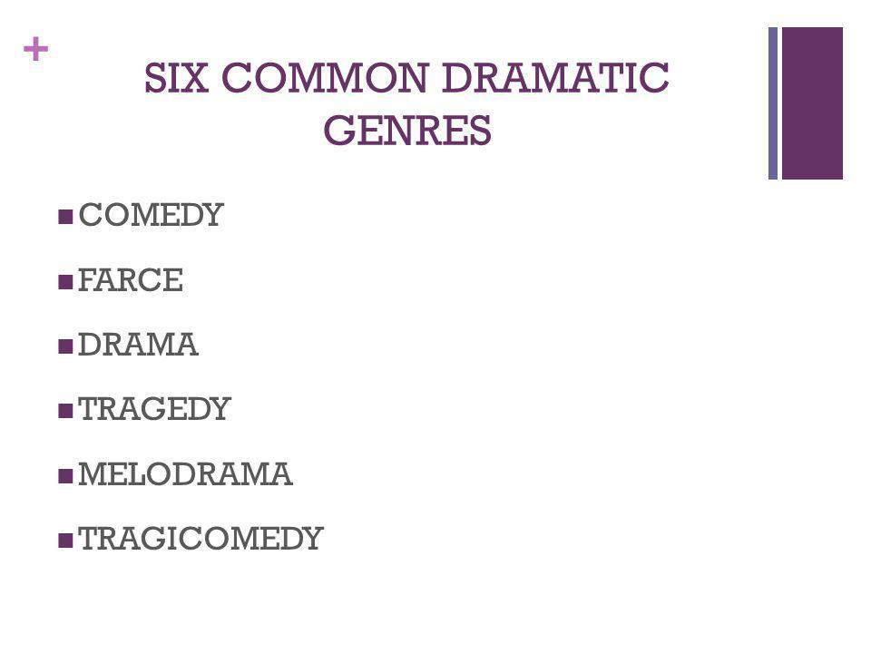 SIX COMMON DRAMATIC GENRES