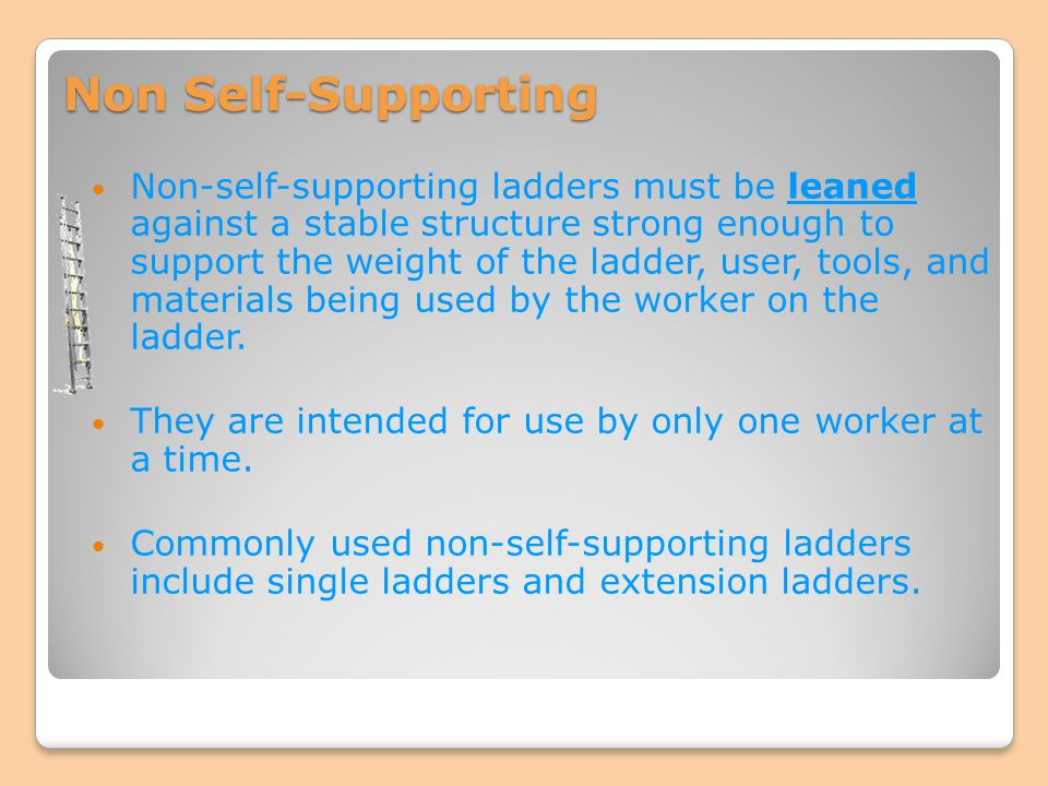 Non Self-Supporting