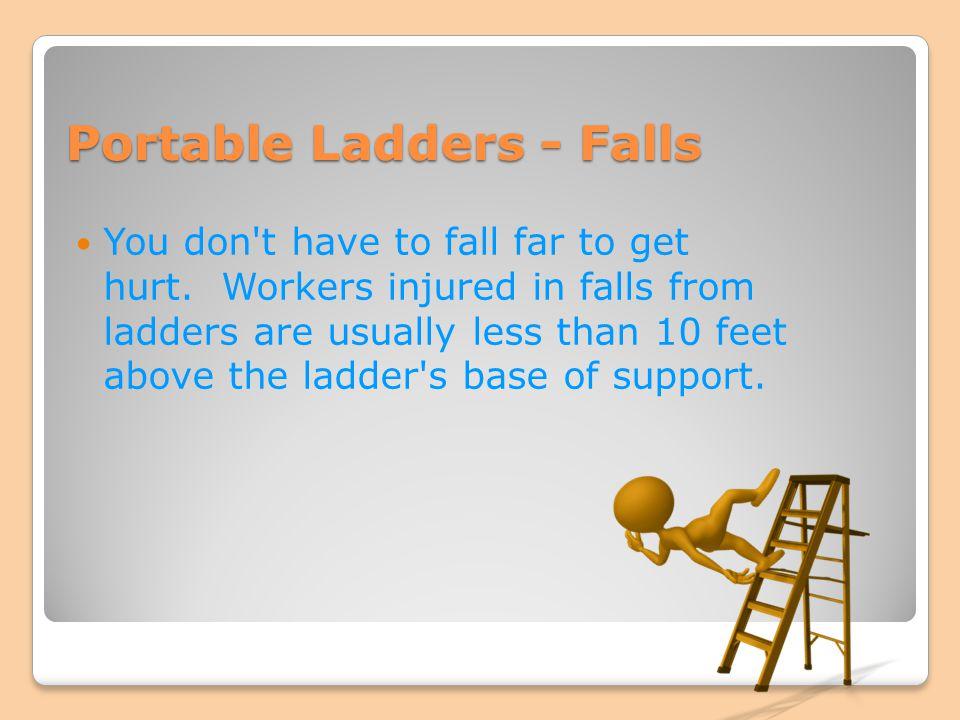 Portable Ladders - Falls