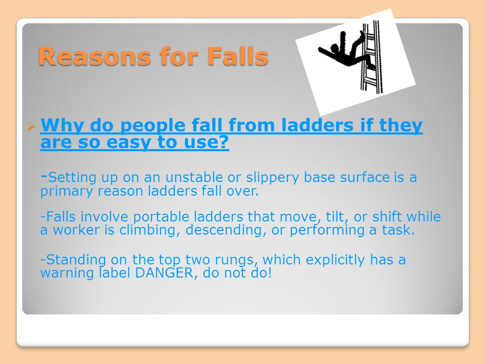 Reasons for Falls