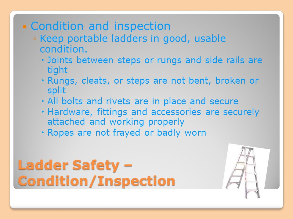 Ladder Safety – Condition/Inspection