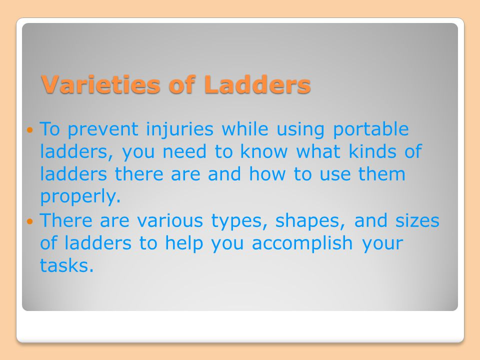 Varieties of Ladders
