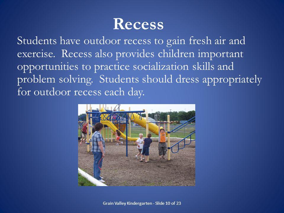 Grain Valley Kindergarten - Slide 10 of 23