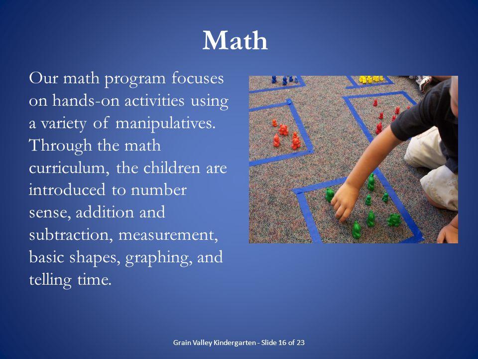 Grain Valley Kindergarten - Slide 16 of 23