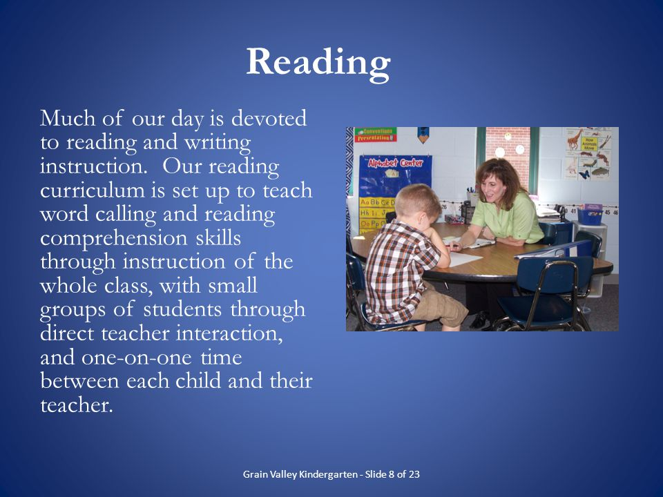 Grain Valley Kindergarten - Slide 8 of 23