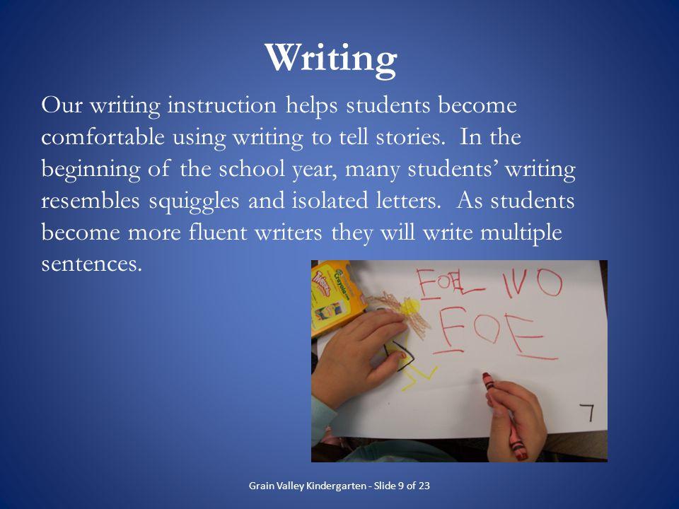 Grain Valley Kindergarten - Slide 9 of 23
