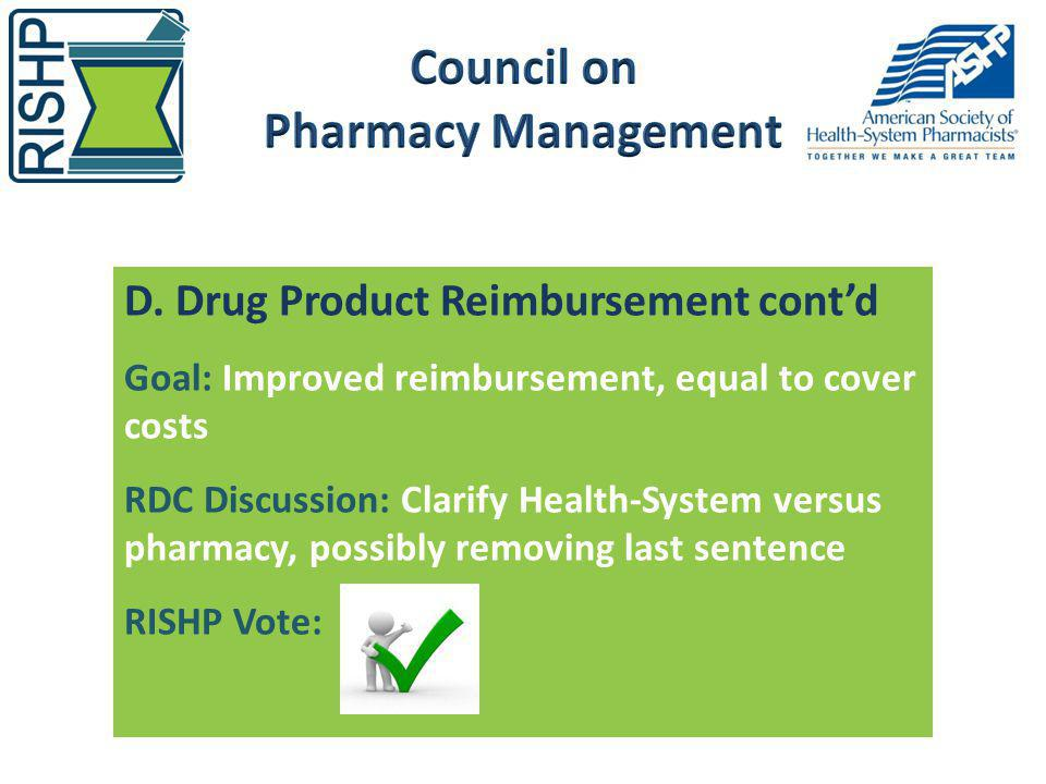 Council on Pharmacy Management