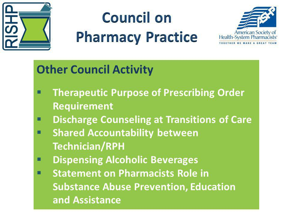 Council on Pharmacy Practice
