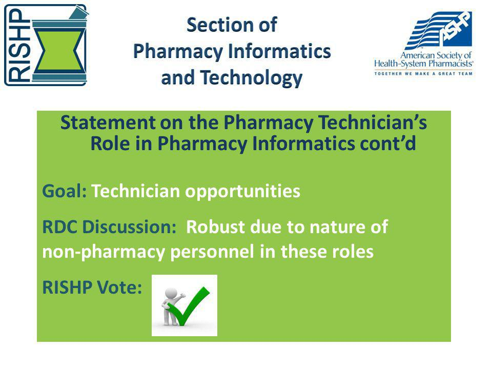 Section of Pharmacy Informatics and Technology