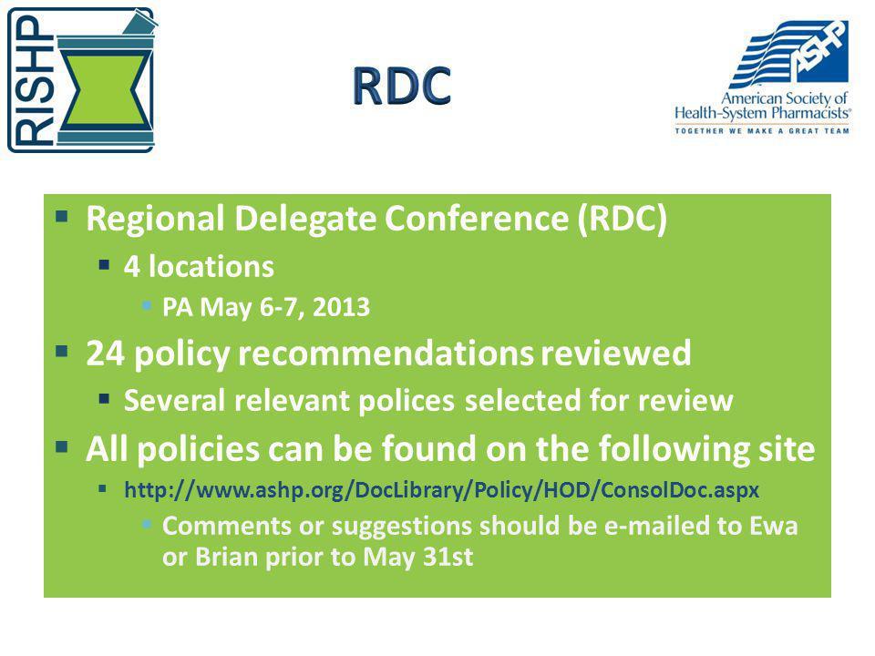 RDC Regional Delegate Conference (RDC)