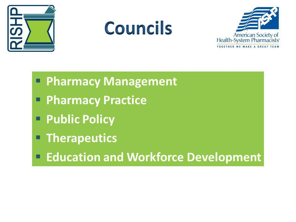 Councils Pharmacy Management Pharmacy Practice Public Policy