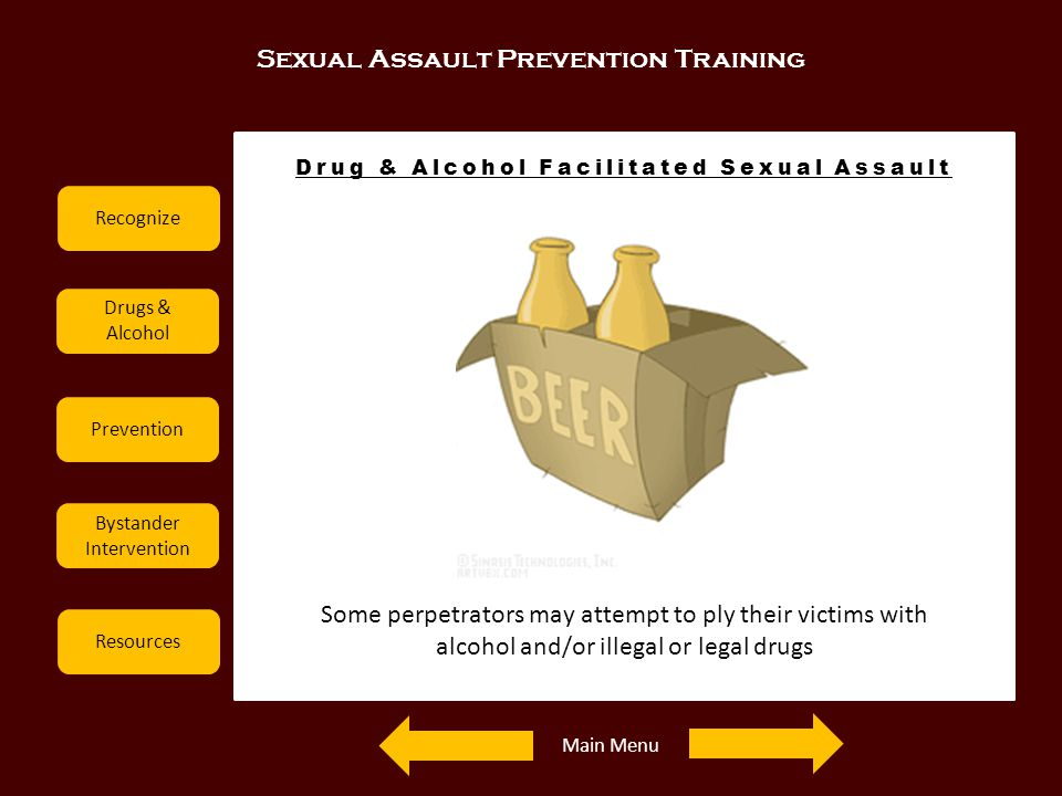 Drug & Alcohol Facilitated Sexual Assault