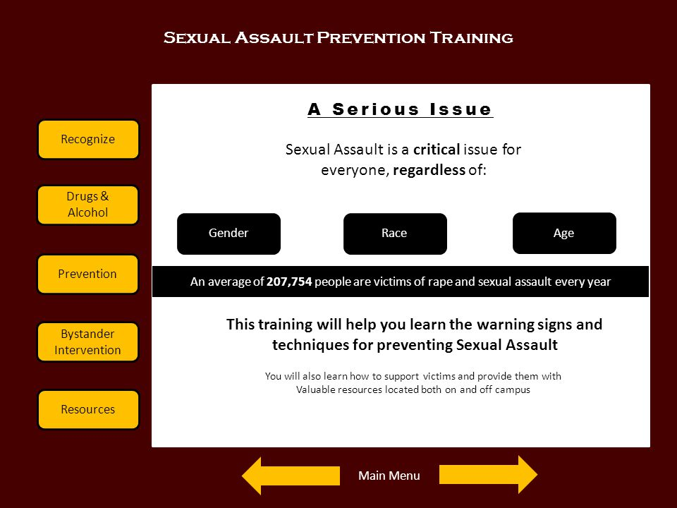 Sexual Assault Prevention Training