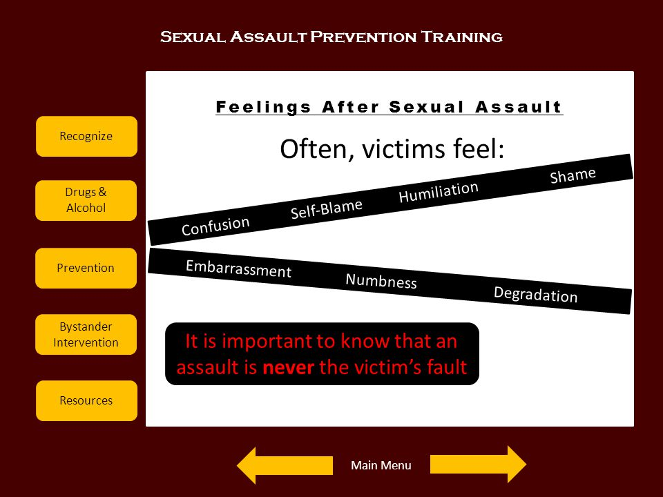 Feelings After Sexual Assault
