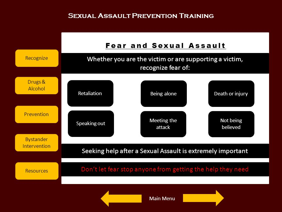 Fear and Sexual Assault
