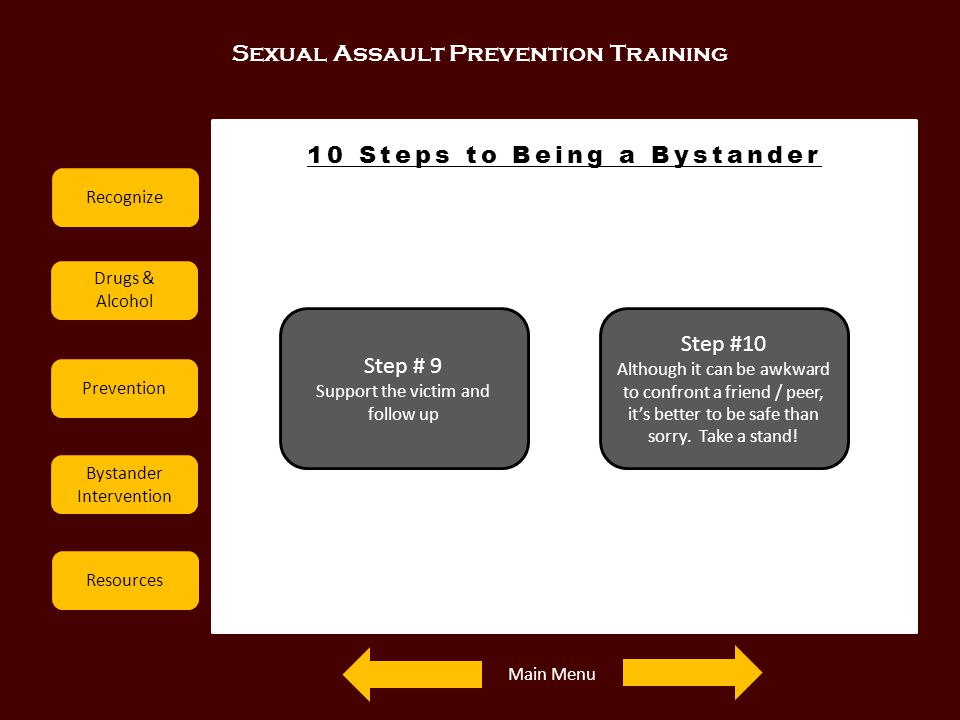 10 Steps to Being a Bystander