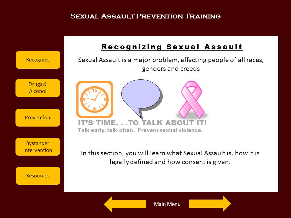 Recognizing Sexual Assault