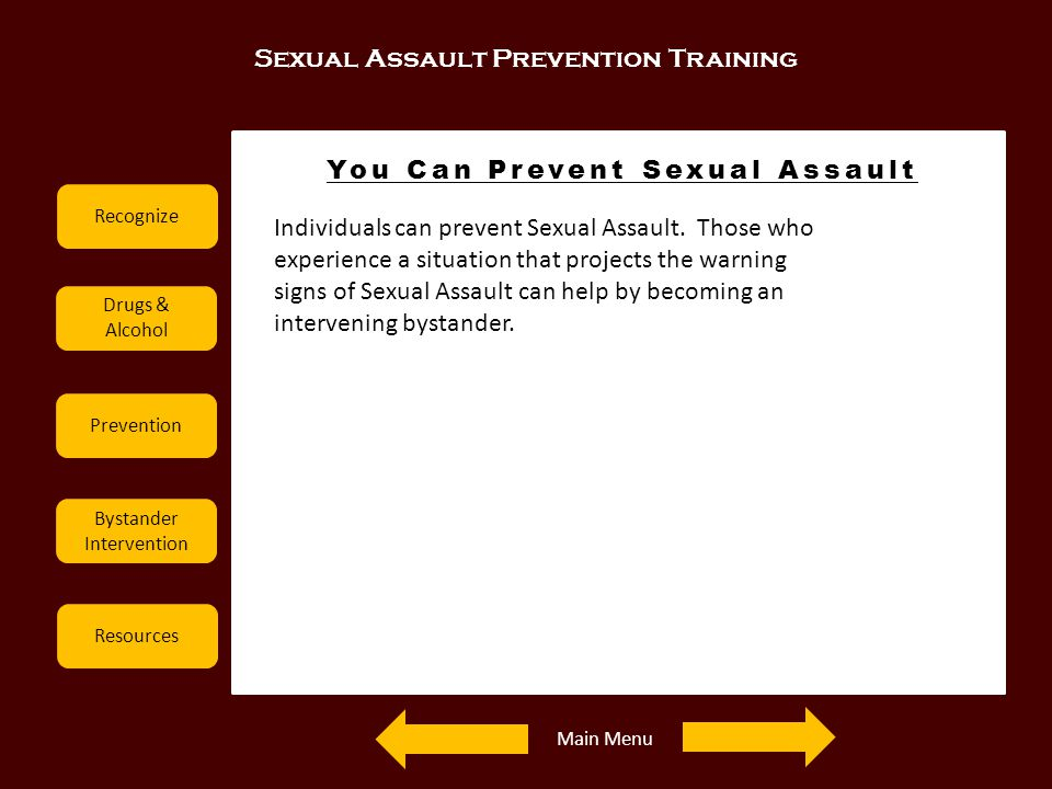 You Can Prevent Sexual Assault
